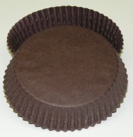 "3/4"" X 3"" Tart Baking Cups Brown 500 Count"