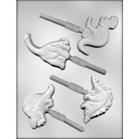 "3.5"" Dinosaur Lolly Candy Mold (4)"