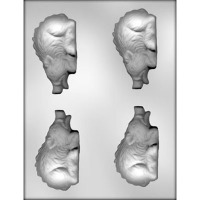 "3.75"" 3-D Razorback Candy Mold (4)"