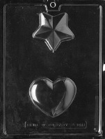 3-D Heart/Star Candy Mold