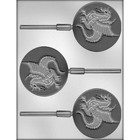 "3"" Dragon Lolly Mold (3) Candy Mold"