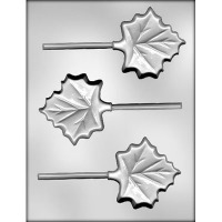 "3"" Maple Leaf Lolly Mold (3)"