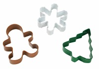 3-PC Christmas Cookie Cutters