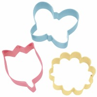 3-PC Flower Cookie Cutter Theme Set
