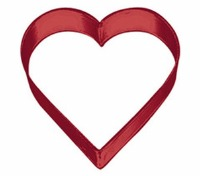 "3"" Red Heart Cookie Cutter"
