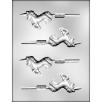 """3"""" Unicorn Lolly (5) Candy Mold"""