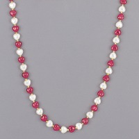 "36"" Hearts & Pearls Bead Neck."