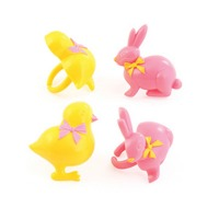 3D Bunny and Chick Rings 12 CT