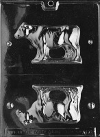 "3D Cow 3""x5"" Candy Mold"