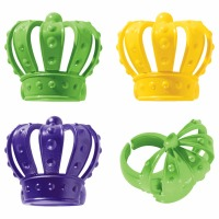 3D Crown Cupcake Rings 12CT