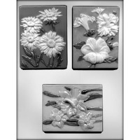 "4.25"" Flower Plaque #3 Mold 3"