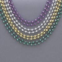 4 60  Diamond Metallic Bead Necklace
