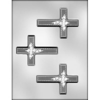 "4"" Cross w/ Flowers Mold (3)"