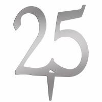 "4"" Monogram Number - ""25"""
