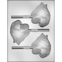 """4"""" Panther or Cougar Lolly (3) Candy Mold"""