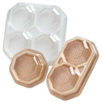 4-PC Candy Box Clear & Gold