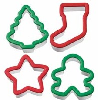4-PC Grippy Cutters Christmas