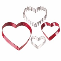 4-PC Heart Cookie Cutter Set