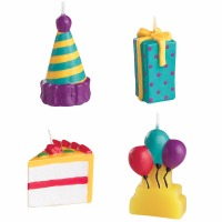 4-PC Party Time Candle Set