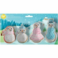 4 PC Snowman Cookie Cutter Set