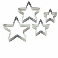 4-PC Star Cookie Cutter Set