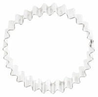 "4"" Round Crinkle Cookie Cutter"