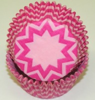 "1.25"" X 2"" Chevron Light Pink and Pink Baking Cups 500 Count"
