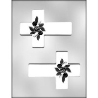 "5"" Cross w/ Flowers Mold (2)"