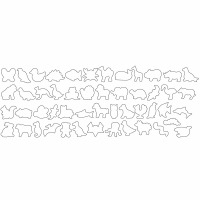 50-PC Animal Cookie Cutter Set