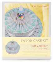 43 PC Baby Boy Favor Cake Kit