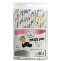 "6"" Cake Pop Stck Large Confetti"