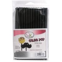 """6"""" Cake Pop Sticks Jet Black"""