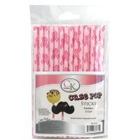 "6"" Cake Pop Sticks Pink Ribbon"