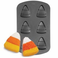 6 Cavity Candy Corn Mini Cake