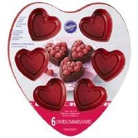 6 Cav Heart Mini Cake Pan