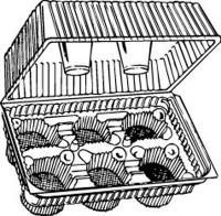 6 CAV Hinged Cupcake Container