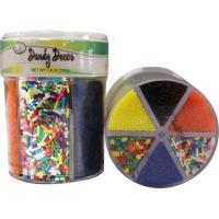 6-Cell Rainbow Sprinkles / Sugar