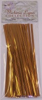 "6"" Twist Ties Gold 80 CT"