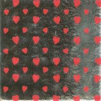 """Foil Wrapper 6""""x6"""" Silver Hearts"""
