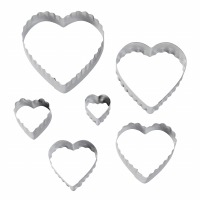 6PC Double Side Cutter Heart