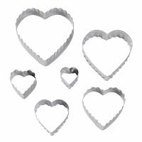 6PC Double Side Cutter Heart