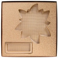 Gold Insert Poinsettia Box