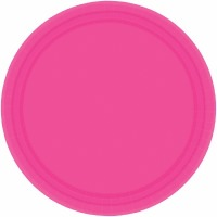"7"" Plate 24 CT Bright Pink"