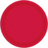 "7"" Plate 24 CT Red"