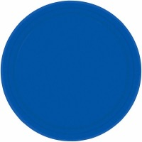 "7"" Plate 24 CT Royal Blue"