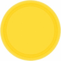 "7"" Plate 24 CT Yellow"