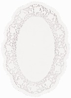 "7""X10"" White Doilies Oval 18CT"