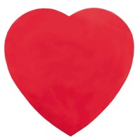 8 OZ Heart Box Red Foil Plain