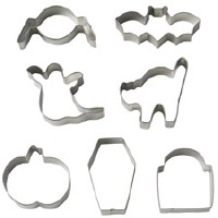 8-PC Coffin Cookie Cutter Set