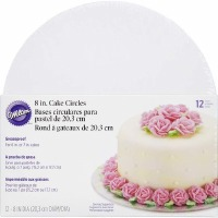 "Wilton 8"" Round Cake Board - 12 Pack"